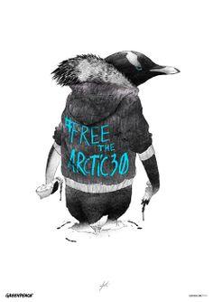 Gianluca Folì colabora con la campaña #freethearctic30 de Greenpeace.