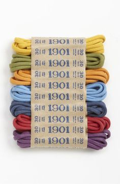 1901 Multicolor Shoelaces (7-Pack) | Nordstrom