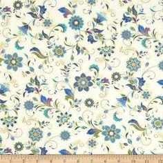 Timeless Treasures - Dynasty-CM2737-Cream - Dynasty Ornate Floral