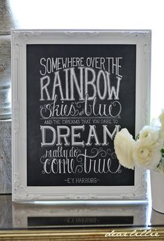 Image of Over the Rainbow 11x14 Chalkboard Print