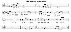 Musica e spartiti gratis per flauto dolce: The sound of silence