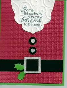 Simple Santa Suit by lkarr309 - Cards and Paper Crafts at Splitcoaststampers