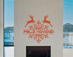 Vinilos navideños para decorar las paredes #Decora tu #escaparate con un #viniloadhesivo #navidad #feliznavidad