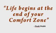 Waar begint je leven? Schijnbaar aan het eind van je #comfortzone.  Eens onderzoeken? :-)  www.vivier.nl