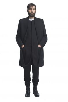 coat and pants by Nian from the fall/winter 15 menswear collection available in pre-order on http://www.betosee.com/collection/58756