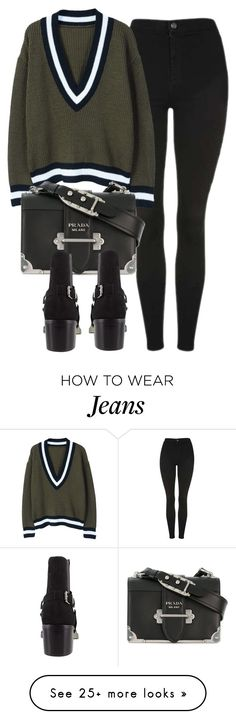 """Untitled #7143"" by laurenmboot on Polyvore featuring Topshop, MANGO and Prada"