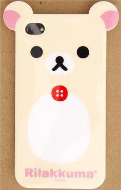 Rilakkuma bear with ears iPhone 4S /4 silicone case