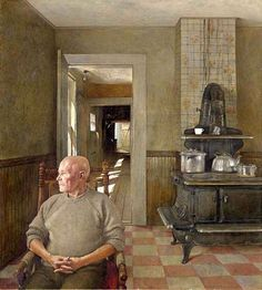 Andrew Wyeth (B. Ericksons signed 'Andrew Wyeth' (lower left) tempera on panel 42 x 38 in. Jamie Wyeth, Andrew Wyeth Paintings, Andrew Wyeth Art, Robert Motherwell, Jackson Pollock, Keith Haring, Edward Hopper, Nc Wyeth, Caspar David Friedrich