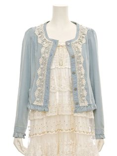 Add lace to a cardigan or shirt