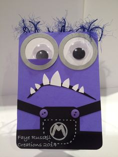 Purple Minion Handmade card