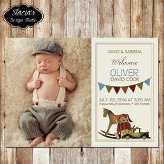 Customized Digital New Baby Birth by StaciasDesignStudio on Etsy, $12.00
