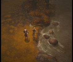 Diablo III screenshot. Game looks incredible. The hand painted textures make the game look like an illustrated book!
