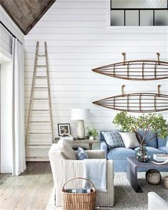 Mix and Chic: An unconventional modern rustic mountain house in North Carolina! Casas En Atlanta, Interior Styling, Interior Design, Savvy Southern Style, Coastal Living Rooms, Living Spaces, Atlanta Homes, Dining Nook, Coastal Style