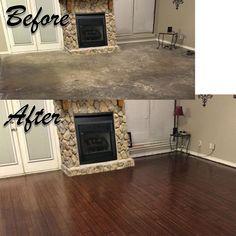 Basement Flooring, Diy Flooring, Basement Remodeling, Cheap Basement Remodel, Basement Makeover, Garage Remodel, Basement Storage, Patio Makeover, Exterior Makeover