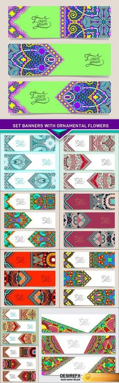 Set banners with ornamental flowers EPS www. Set banners with ornamental flowers Creative Banners, Banner Vector, Vector Graphics, Finding Yourself, Vector Illustrations, Ornaments, Flowers, Modern, Trendy Tree