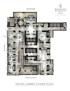 fourseasons_hotel_lobby_plan, Yabu Pushelberg