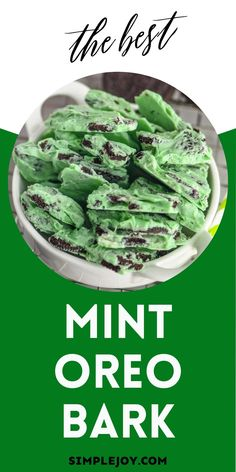 Mint Oreo Bark is only four ingredients and disappears from treat trays in a blink!
