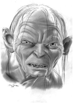 Gollum - Pencil drawing