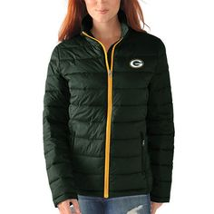 Green Bay Packers G-III 4Her by Carl Banks Women's Packable Polyfill Jacket…