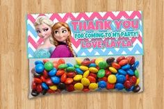 Personalized Frozen - Party Bag Toppers
