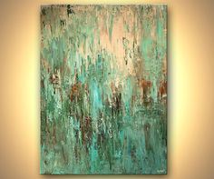 Modern Art Poster on Photographic Paper Turquoise von OsnatFineArt