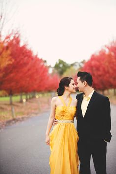 Andrew and Hilda's Autumn Engagement Session in Melbourne