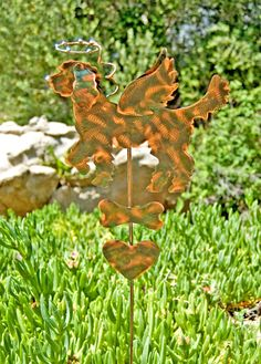 Golden Doodle Pet Memorial Metal Garden Art Stake, Copper Pet Memorial, Dog Grave Marker, Garden Memorial Marker, Outdoor Metal Sculpture,
