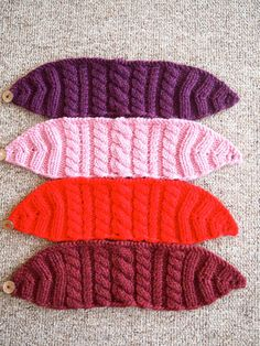 Super Bright Cherry Red Knitted Ear Warmer by KnittingWriter, $25.00