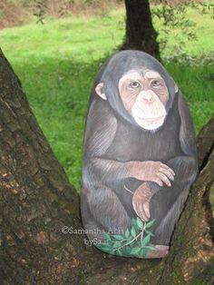 Ritratti di animali bysa: Animali dipinti...Awesome monkey!