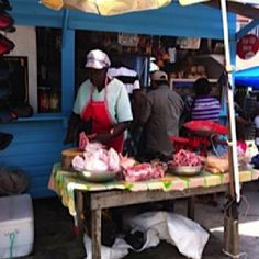 Local butcher-Charity market