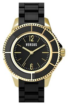 LOVE! VERSUS by Versace 'Tokyo' Rubber Strap Watch, 42mm available at #Nordstrom