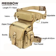 Outdoor Multifunctional Tactical Drop Leg Bag SWAT Hunting Tool Waist Pack Motorcycle Sports Ride Men 1000D CORDURA Pack-inSports Bags from Sports & Entertainment on Aliexpress.com | Alibaba Group