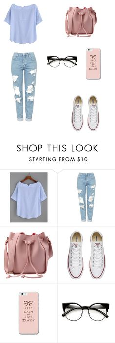 """""""Untitled #69"""" by bleona-ermonda on Polyvore featuring Topshop and Converse"""