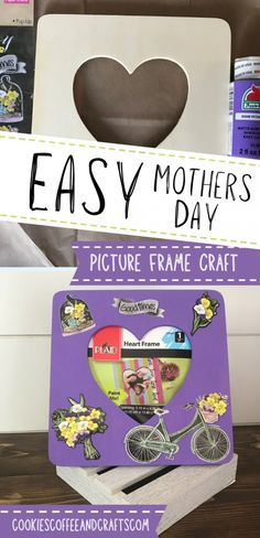 Diy Crafts For Gifts, Homemade Crafts, Fun Crafts, Crafts For Kids, Picture Frame Crafts, Picture Frames, Mothers Day Pictures Frames, Heart Frame, How To Make Cookies