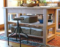 DIY Kitchen Cart (http://www.ana-white.com/2010/03/plans-michaelas-kitchen-island.html)
