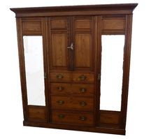 Everything you need in one amazing pitch pine Edwardian wardrobe. Collectable Heritage at www.resourcevintage.co.uk