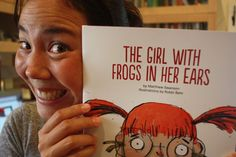 The printer's proof for the very first Bobbledy Book, The Girl With Frogs in Her Ears.