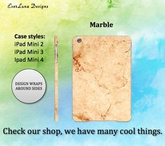 Marble 2 Ipad Mini Case Ipad Case Ipad mini Case by EverLunaStore Marble Case, Ipad Mini 3, Ipad Case, Phone Cases, Unique Jewelry, Handmade Gifts, Etsy, Design, Kid Craft Gifts