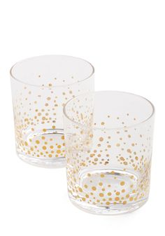 Daily Bubble Glass Set. Double the delight with which you welcome each day by sipping your morning OJ out of one of these effervescent tumblers. #gold #modcloth