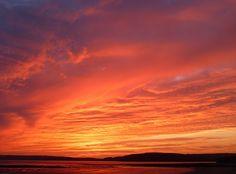 Landscape, Shore, Sunset, Clouds
