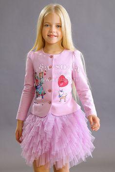 Жакет, светло-лиловый, FSL-159-316, за 4968 руб, фото 2 Baby Girl Dress Design, Baby Girl Dresses, Baby Dress, Flower Girl Dresses, Confirmation Dresses, Blonde Fashion, Baby Skirt, Moda Chic, Moda Casual
