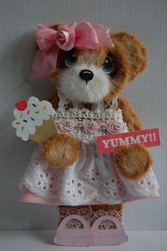 tear bear girl wtih ice cream