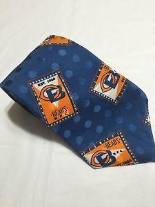 Mens Tie Chicago Bears NFC Ralph Marlin Blue Orange Silk | eBay