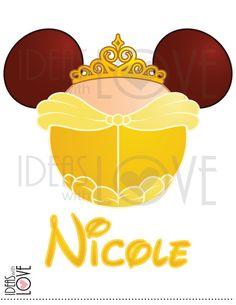 DIY Personalized Disney Inspired Belle Mickey Ears by IdeasLove