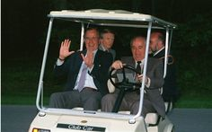 In the driver's seat? Mikhail Gorbachev and George HW Bush both took the credit for the end of the Cold War