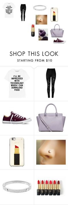 """""""Cool"""" by ivieoww on Polyvore featuring Converse, MICHAEL Michael Kors, Kate Spade, Michael Kors and L'Oréal Paris"""
