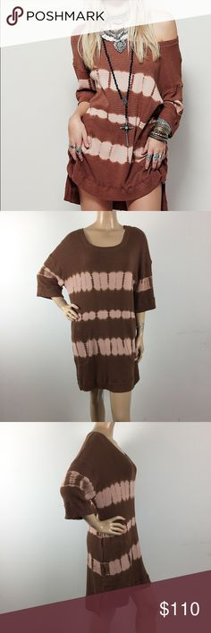 "Free People WTF Rust Dye Canyon Thermal Tunic New without tags. 60%Cotton 40%Polyester MEASUREMENTS: (Please note that the measurements are approximate) ALL MEASUREMENTS ARE TAKEN WITH GARMENT LYING FLAT: SLEEVE: 19"" (From Neck to Hem) BUST: 23.5"" WAIST: 23"" LENGHT: 33"" Back: 35"" Free People Dresses"