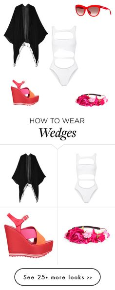 """#whattowear #quemepongo #outfit #style #moda #blog #youarethefashion #fashionset #beachtime #bikini #swimwear"" by michaelamc on Polyvore featuring Tart Collections, Norma Kamali, P.A.R.O.S.H., H&M and Alexander McQueen"