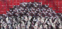 Bar Metro  Retro women  contemporary textiles on by ArtOfTextile