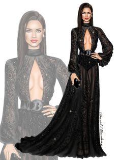 Adriana Lima wearing ZUHAIR MURAD to the New York Gala.